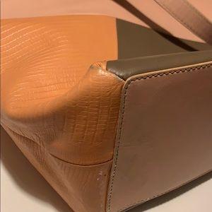 Modalu Coral leather pink shoulder tote handbag